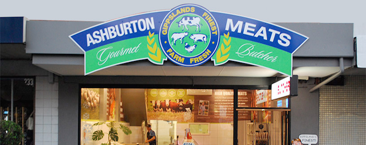 Ashburton Meats front of store
