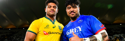 Wallaby Rob Valetini & Samoa's Afa Amosa